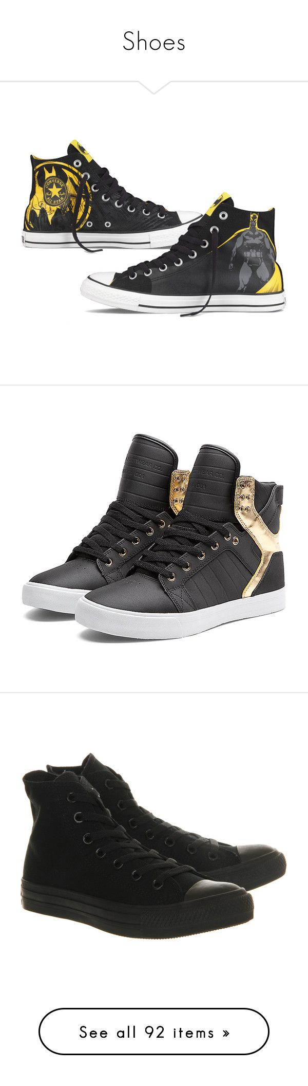 """""""Shoes"""" by believeinunicorns-137 ❤ liked on Polyvore featuring shoes, batman, sneakers, converse, superheros, supra, chaussures, sapatos, black mesh shoes and kohl shoes"""