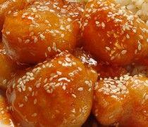 Kínai édes csípős csirke falatkák