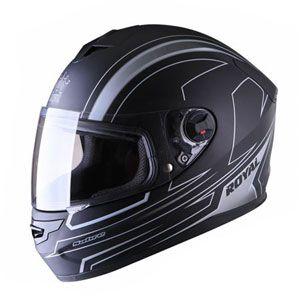 Mũ bảo hiểm fullface Royal M07 đen trắng nhám