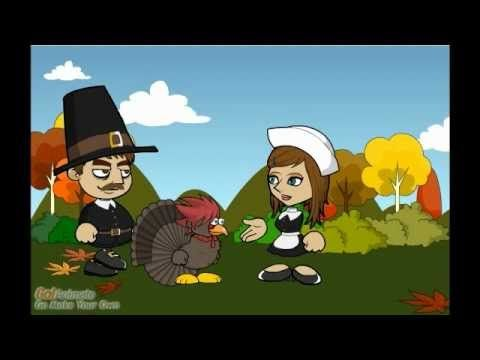 Mary Chilton, a 14 year-old passenger on the Mayflower, tells the story of the first Thanksgiving, with her friend, Mr. Gobbles.