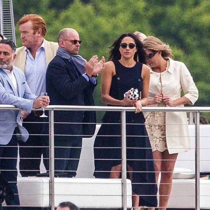 Meghan Markle in the crowd