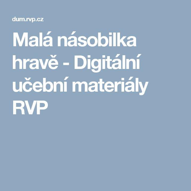 Malá násobilka hravě - Digitální učební materiály RVP