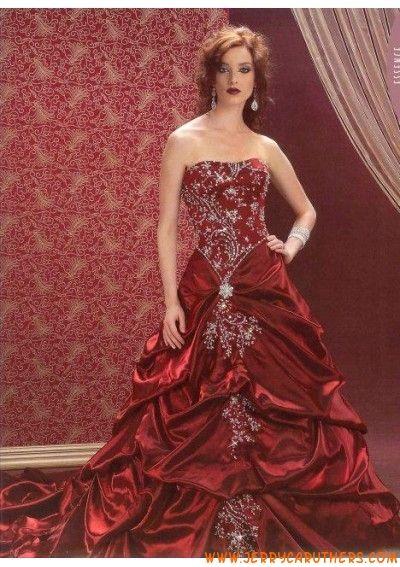 A-Lijn/princess rimless Kapel Trein taf satijn Jurken van bruids