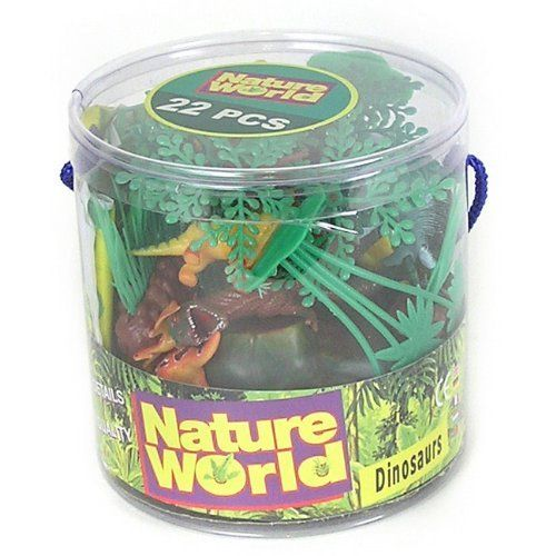 Nature World Dinosaurs 22 Piece Dino Playset In Bucket By