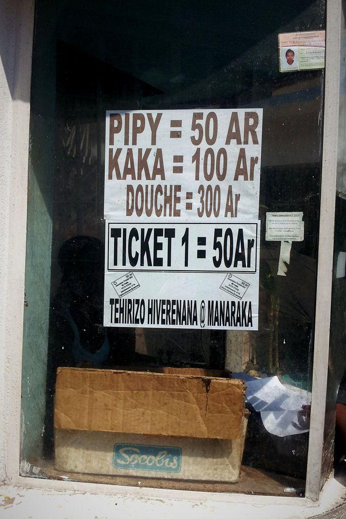 Everything has a price, Tananarive, Madagascar #funny / Chaque chose à un prix, Antananarivo, Madagascar #drôle
