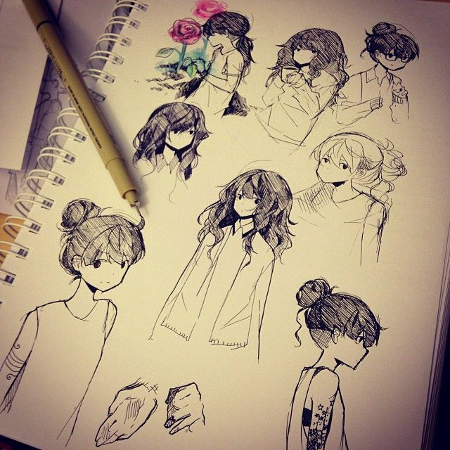 Anime sketches by tootokki