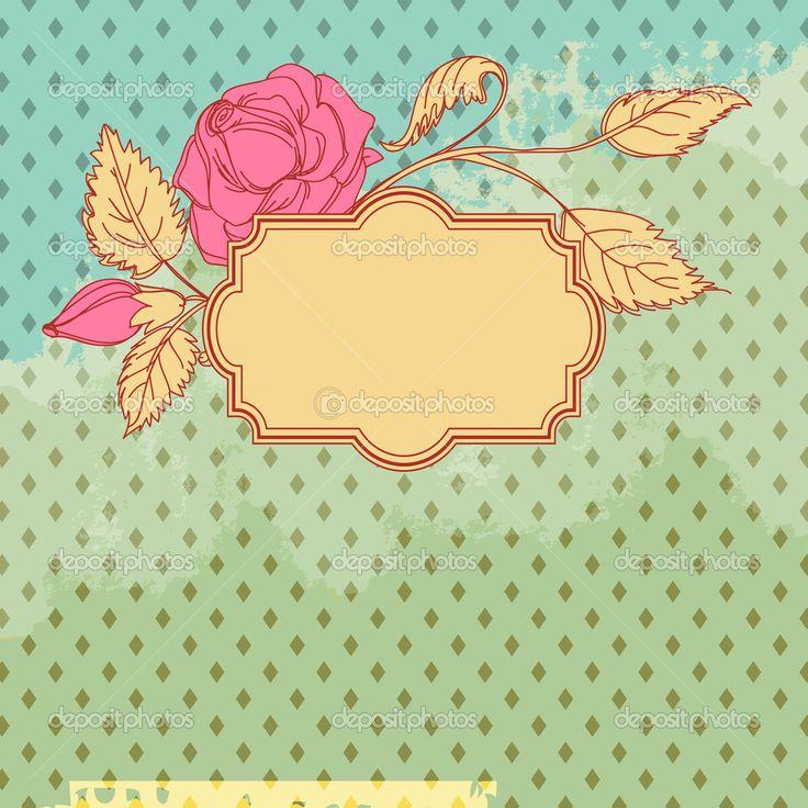 hojas decoradas vintage - Buscar con Google                              …