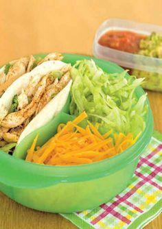 Recette de tacos au poulet pour la boîte à lunch.