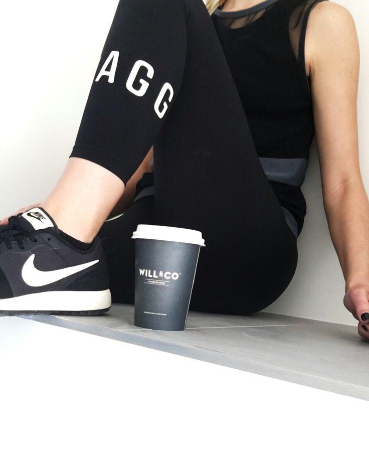 Post excessive coffee | Jaggad leggings | Tully Lou top | Nike sneakers | Sensory Cues
