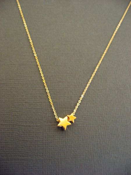 Twinkle twinkle little Star Necklace  Vermeil and 925 by Muse411