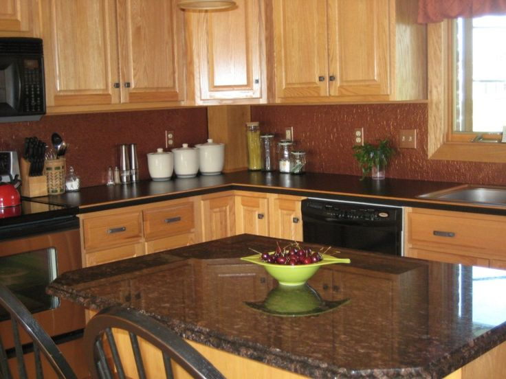 Best Brown Color Cheap Backsplash Ideas With Soft Walnut Brown 640 x 480