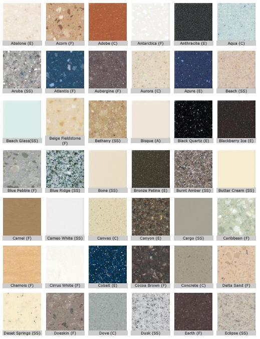 Corian counter top colors for the abode pinterest