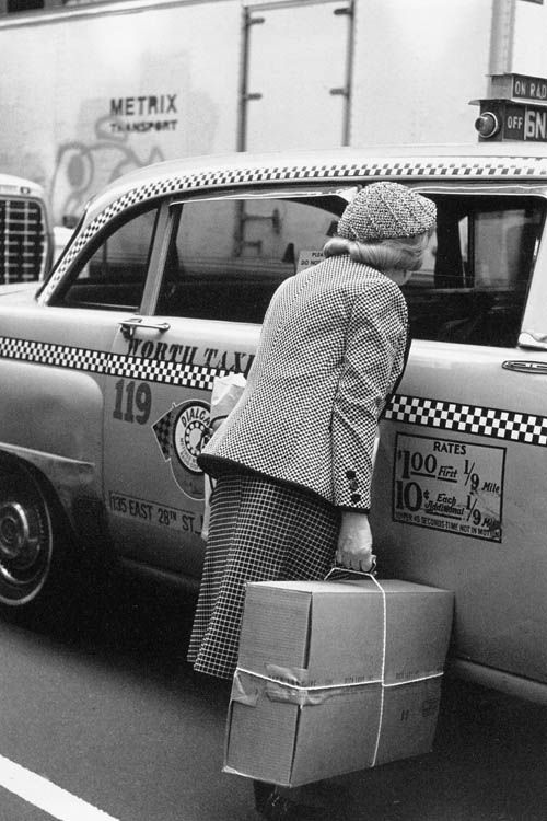 "Helen Levitt. New York, 1982  (checker cab)  14 x 11"" silver print"