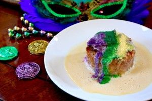 I have done this before with Mexican king cake. This is a King Cake Bread Pudding