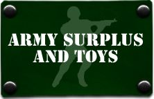 The Only place you need to get all of your Genuine Army Surplus, Military Uniforms and Military Hardware,  Camping Equipment and Accessories, Including genuine army surplus and army style products. Army boots and shoes, a  Fantastic Selection of fishing and hunting, including army jackets and waterproof jackets. We Stock an Amazing Choice of  Survival Accessories Including survival kits and knives.