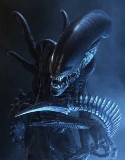 ALIENS, created and inspired by the amazing work of H.R.Giger. - A beautiful creature, indeed!