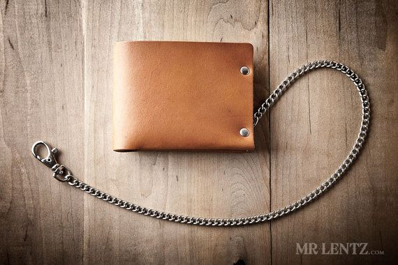 Men's Chain Wallet Mens Leather Chain Wallet Minimal por MrLentz