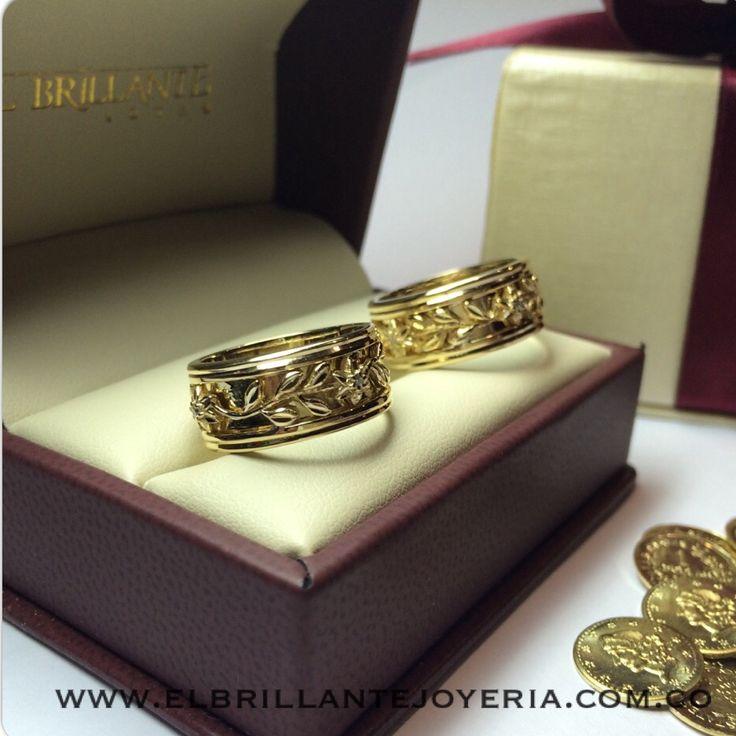 Argollas de matrimonio y anillos de compromiso  www.elbrillantejoyeria.com.co