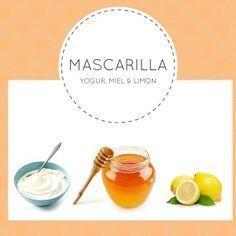 Mascarilla de Yogur, Miel y Limón para piel mixta - Esta mascarilla contiene los ingredientes necesarios para limpiar, hidratar y equilibrar el aspecto de tu piel, dándole el brillo y la viveza que necesita! www.uhlola.com/mascarilla-yogur-miel-y-limon-para-piel-mixta