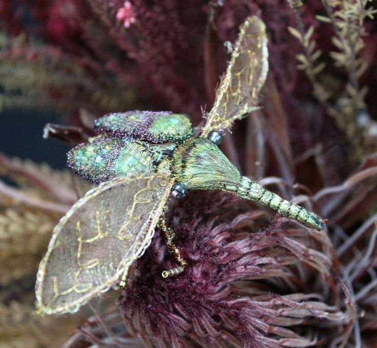 Jewelled Beetle Class with Michele Carragher @ the London Embroidery School
