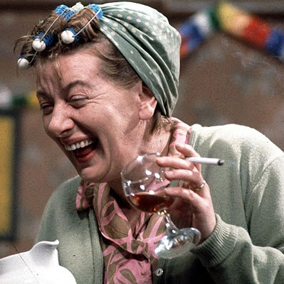 Hilda Ogden - Coronation Street. Now I look at her she actually wasn't that OLD