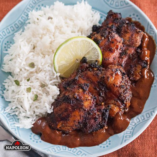 Chicken Mole On The Grill