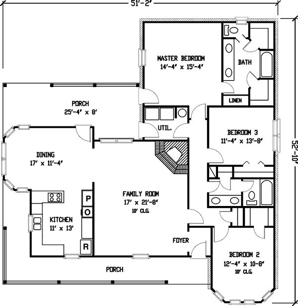 Plan 1929gt simple country farmhouse plan country farm houses house plans and farmhouse plans - Simple farmhouse designs ...
