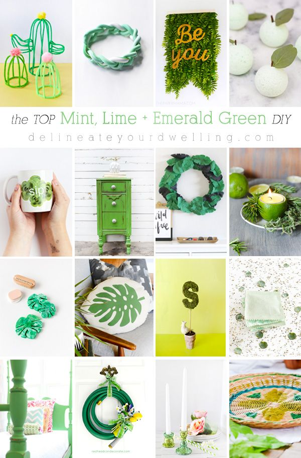 The top DIY, crafts and makeovers in Mint, Lime and Emerald Green DIY craft proj...