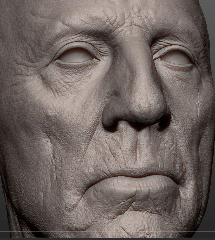 Title: portrait attemp Name: Alex Huguet Country: United Kingdom Software: Maya, Mudbox, VRay, ZBrush
