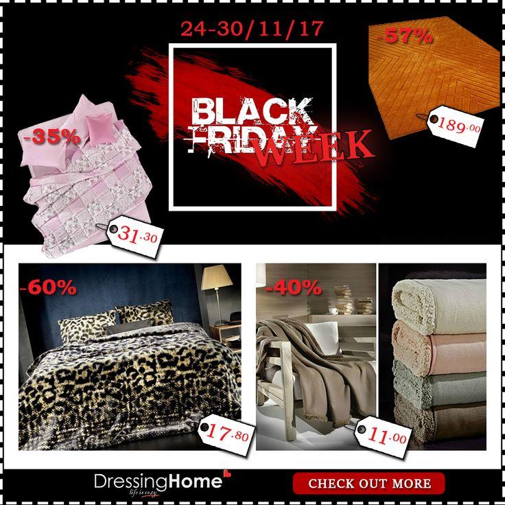 Black Friday goes... Black Week!!! Τρελές εκπτώσεις για μία ολόκληρη εβδομάδα!!  Check out more --> http://bit.ly/2B5nr20 🔛*Μέχρι εξαντλήσεως των αποθεμάτων...Προλάβετε!! 🛒🤣😉👍🔝  ↘️Επικοινωνήστε μαζί μας για διαθεσιμότητα ☎️ Τηλεφωνικές παραγγελίες: 210 3221618  🚚 Δωρεάν μεταφορικά με αγορές άνω των 49€ 📧 e-mail: info@dressinghome.com  #blackfriday #blackweek #sales #blackfridaysales #dressinhhome #winter #newcollection #homedecoration #homedecor #homeaccessories #home…