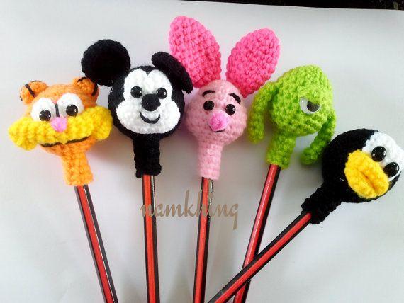 Crochet Pencil Topper by Namkhing on Etsy, ฿150.00