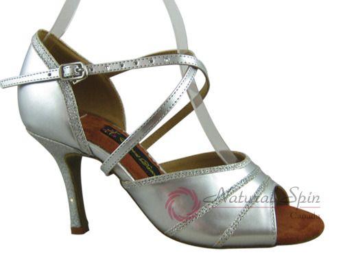 Natural Spin Tango Salsa Shoes/Tango Shoes/Fashion Shoes(Open Toe):  T1108-02_Si