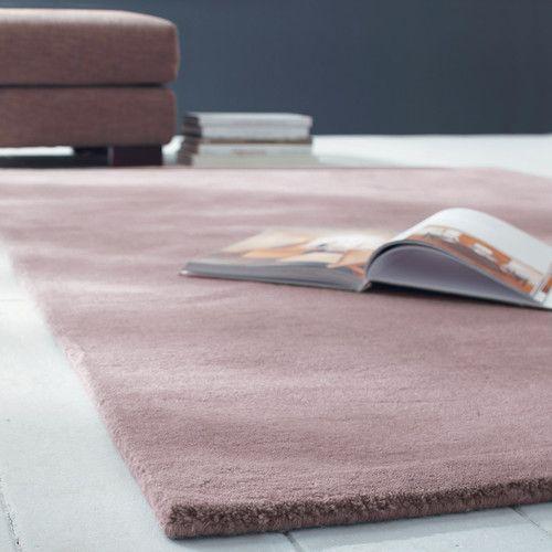 Alfombra de pelos cortos de lana rosa 160 x 230cm SOFT