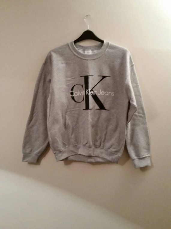 Brand new on trend Calvin klein sweatshirt jumper top unisex mens large womens 8/10/12/14/16