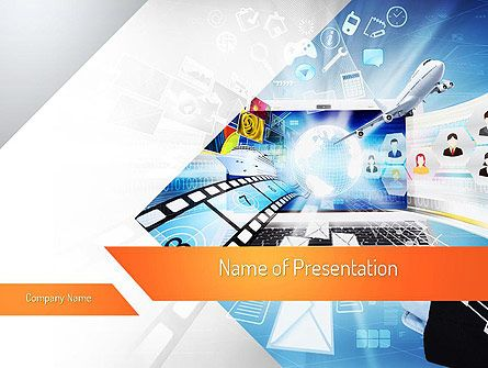 12 best telecommunication presentation themes images on pinterest, Powerpoint templates