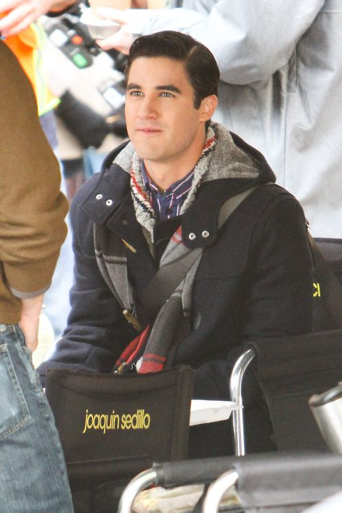 Darren Criss on the set of Glee on April 1, 2014