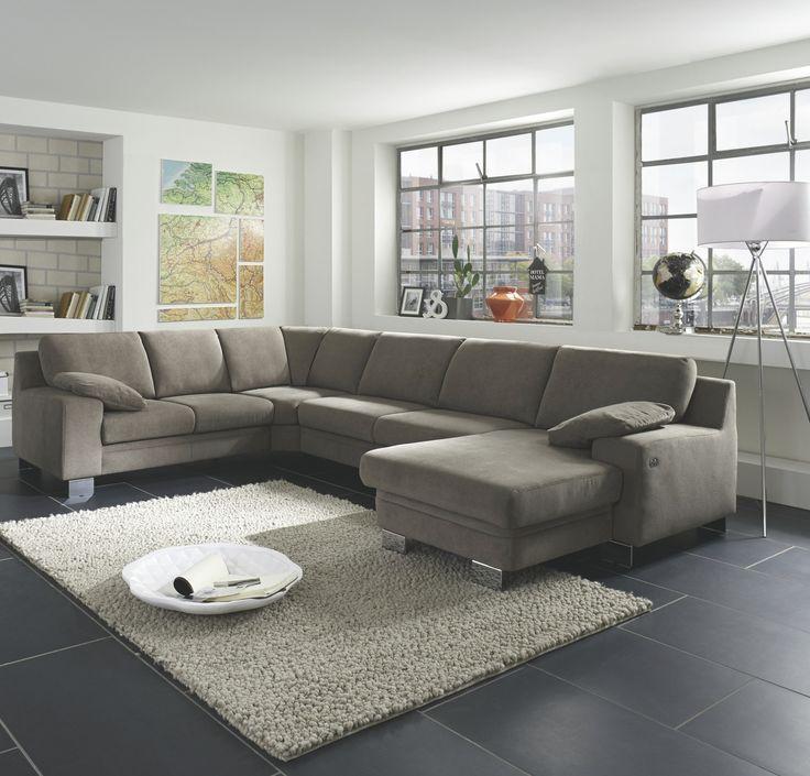 Wohnlandschaft Mit Rundecke Und Canape Stoff Grau Zehdenick Allround S  Nylon Modern Jetzt Bestellen Unter: Https://moebel.ladendirekt.de/wohnzimmer/sofas/  ...