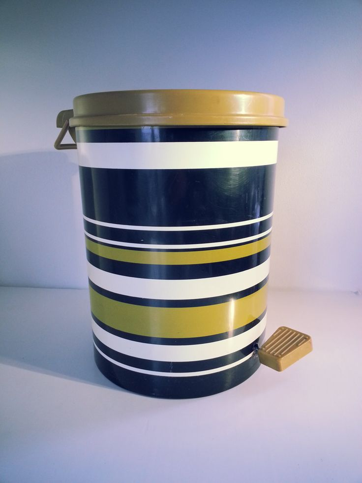 Mid Century Vintage Lonborg Denmark Retro Waste Bin - Trash Can - Scandinavian Design.. Made in Denmark.. by fcollectables on Etsy