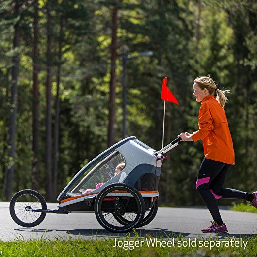 Amazon.com: Hamax Outback Multi-Sport Child Bike Trailer + Stroller +Jogger, Scandinavian Safety & Design (One Seat, Charcoal/Red): Baby