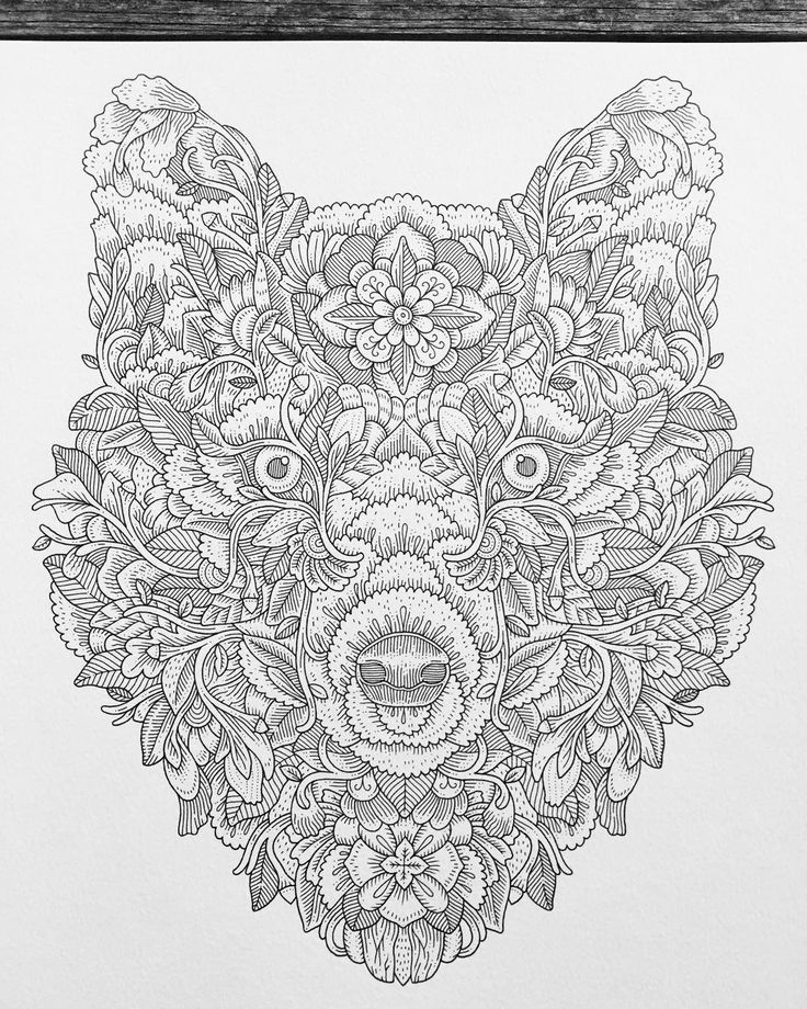 fractal coloring pages for kids - photo#40