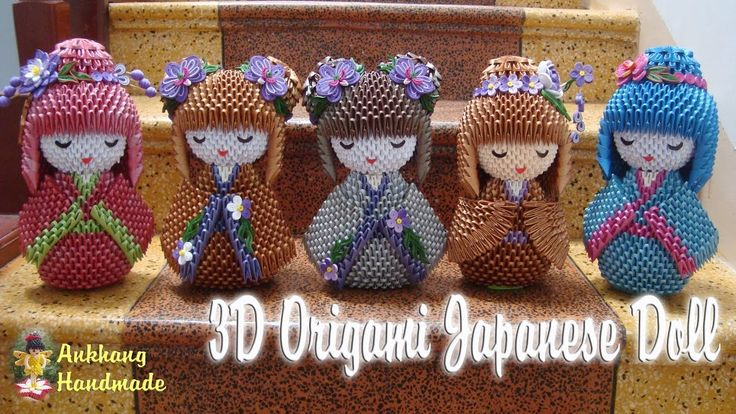 3D ORIGAMI JAPANESE DOLL | PAPER DOLL HANDMADE DECORATION