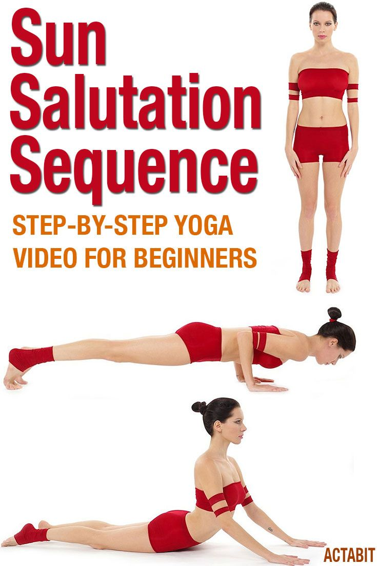 Learn the Sun Salutation yoga poses sequence with video step-by-step instructions. The Sun Salutation sequence is a must for yoga beginners. A slow moving yoga practice video workout with clear instructions. Get to know the key yoga poses of Sun Salutation.