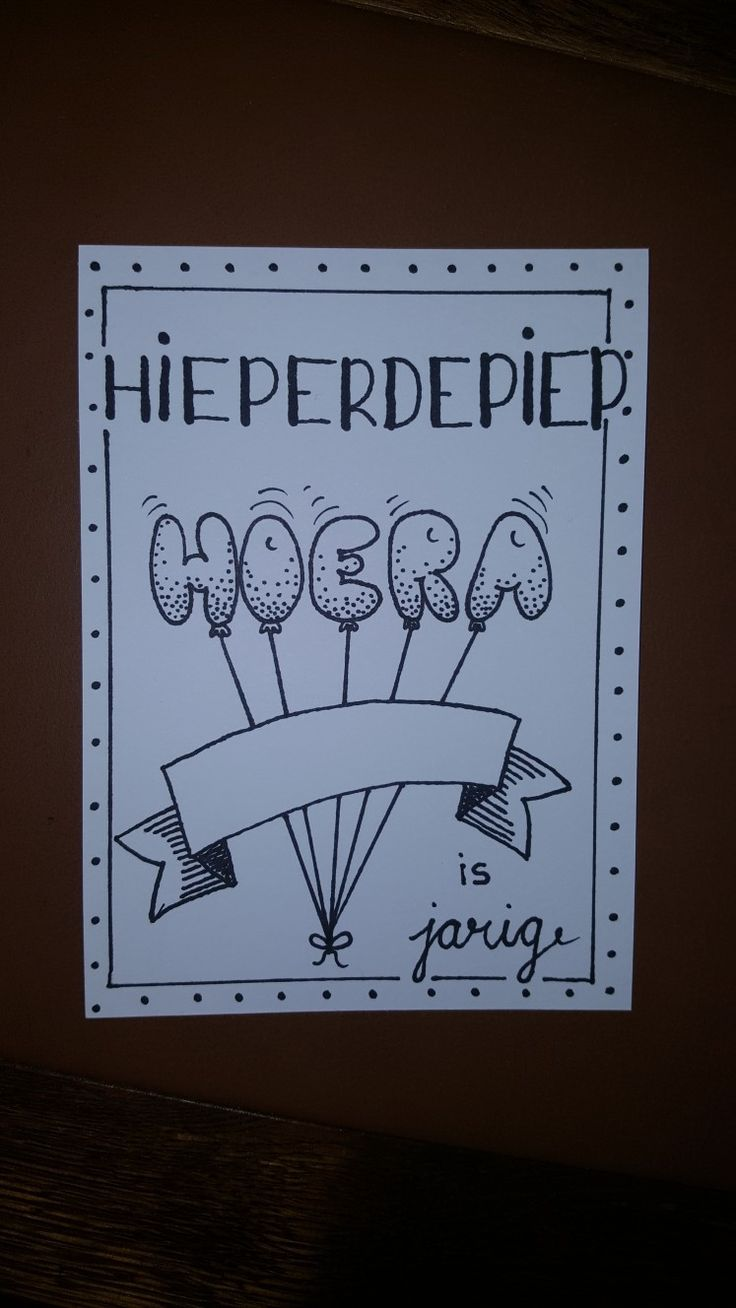 Hieperdepiep Hoera .....is jarig.(Made by Marieke)