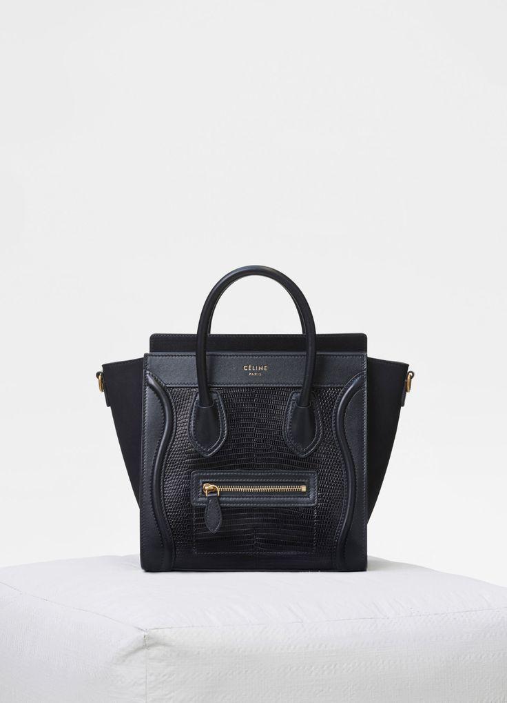 Nano Luggage bag in lizard - Handbags | CÉLINE