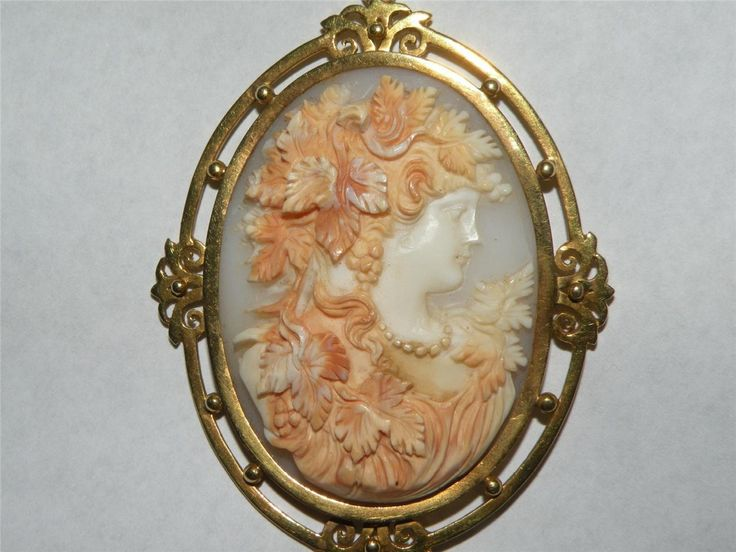 Bacchanate in gold frame, Victorian.