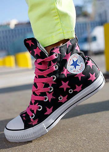 Converse Chuck Taylor All Star Sneakers - Classic hi-top sneakers with star print throughout. £55.
