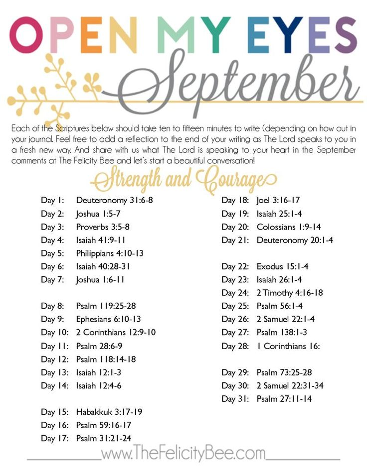 Open My Eyes - September Scripture Writing Plan is here! This month we are…