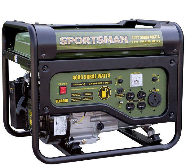 Sportsman Gasoline 4000 Watt Portable Generator Qvc Com Portable Generator Generators For Sale Rv Outlet