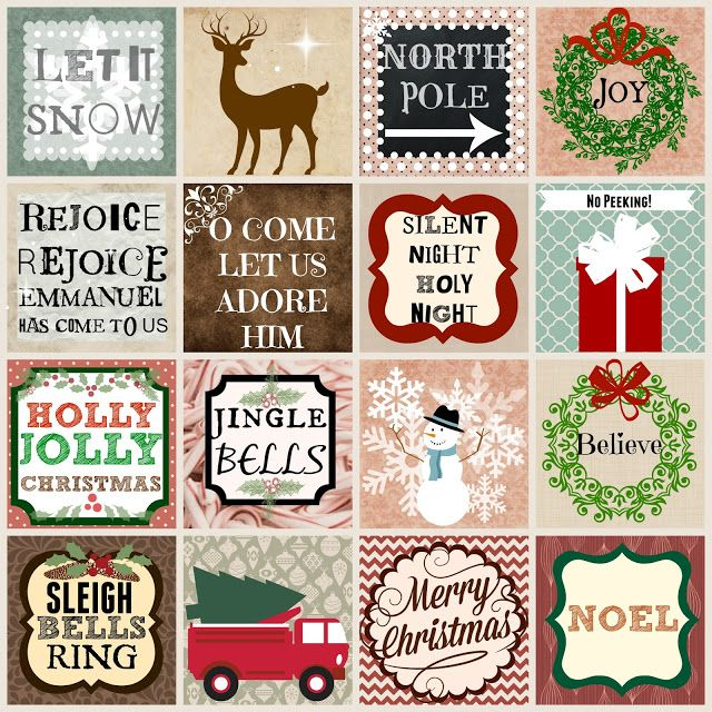 Free Christmas Printables (Rustic, Woodland, Vintage and Pastel)and Coupon Code - Ribbonwood Cottage Etsy!