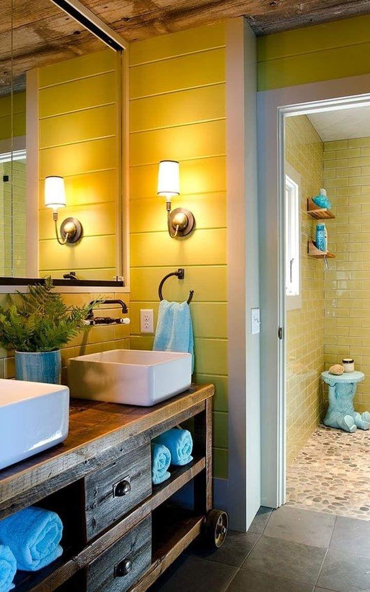 Attractive Lake House Bathroom Decor Yellow Bathroom 12 Lake House. Lake House  Bathroom Decor